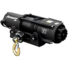 SuperATV 5000 Lb. Black Ops Synthetic Rope UTV / ATV Winch - With Wireless Remote and 50' Synthetic Rope