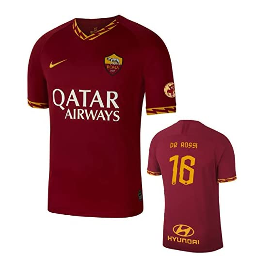 Soccer Jersey AS Roma Last De Rossi Home Shirt 05-26-2019 Edition Limitée