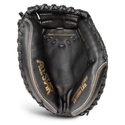 "AllStar ProElite Series Exclusive 33.5"" Baseball Catcher's Mitt, Black/Black'"