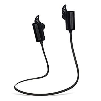 Auriculares Running Bluetooth Cascos Bluextel Wireless Sport Bluetooth 4.0 Microfono Resistente al Sudor Compatible Universal (Negro)