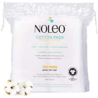Large and Fluffy Organic Cotton Pads Compatible Makeup Products, Eye Makeup Remover Pads, 150 Count - Noleo