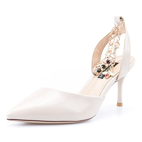 Sandales Talons Court Beige Beige 5cm EU 7 35 Talons Hauts Mariage Sexy à Strass 3 Chaussures Chaussures Stiletto Femmes UK B1Pqw