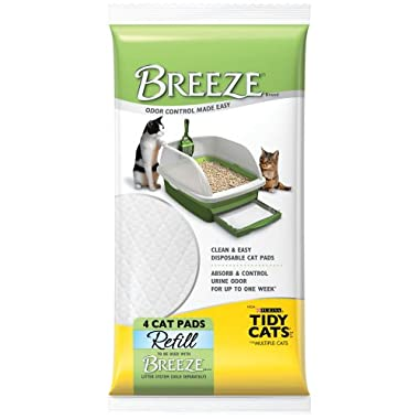 Breeze Tidy Cat Litter Pads 16.9 x11.4 (1 pack of 4 pads)