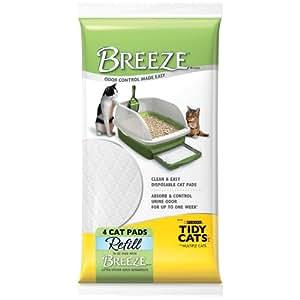 "Breeze Tidy Cat Litter Pads 16.9""x11.4""(1 pack of 4 pads)"