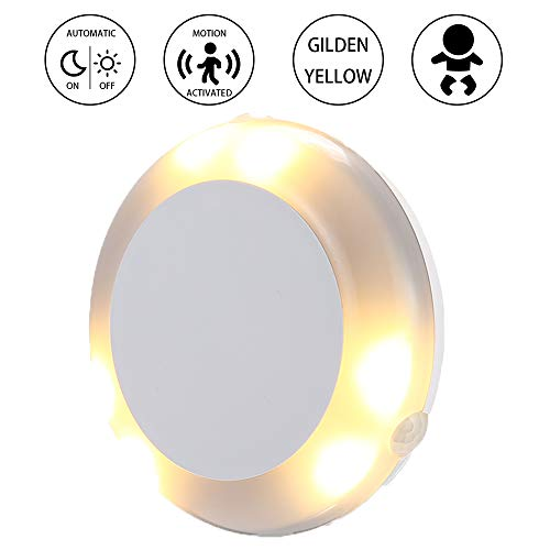 360 °Motion Sensor Light, Upgraded Cordless Battery-Powered LED Night Light/Stair Closet Light/Under-Cabinet Lamp/Wall Light Stick On Anywhere Lamp for Home, Kitchen, Cabinet, Closet, Stairs, (1 PACK)