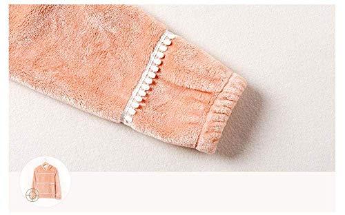 Encapuchado El Larga Anchos Para Pantalones Manga Invierno Marca Conjunto Warm Hogar Elegantes Espesar Mujer De Orange Termica Mode Noche Ocasional Moda Ropa Pijamas Pijama wf4pYp