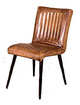 Sensational Peppermill Vintage Style Tan Leather Kitchen Dining Chairs Restaurant Chairs The Epsom Squirreltailoven Fun Painted Chair Ideas Images Squirreltailovenorg