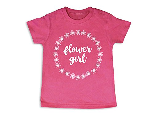 Oliver and Olivia Apparel Flower Girl Shirt Flower Girl Gift Flower Girl Tshirt (4 Toddler) by Oliver and Olivia Apparel