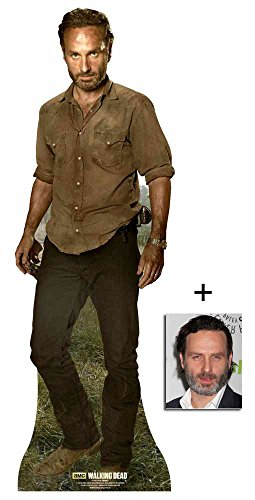 Fan Pack - Rick Grimes (Andrew Lincoln) The Walking Dead New 2015 Lifesize Cardboard Cutout / Standee / standup - Includes 8x10 (20x25cm) Photo - Life Size Zombie Statue