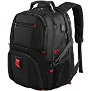 YOREPEK Backpack for Men,Extra Large 50L Travel Backpack with USB Charging Port,TSA Friendly Business College Bookbags…