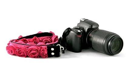 Organza floral ~ para correa de cámara réflex digital o cámara sin ...