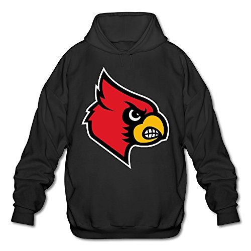 AUSIN Men's University Of Louisville Sweatshirt Black Size XL