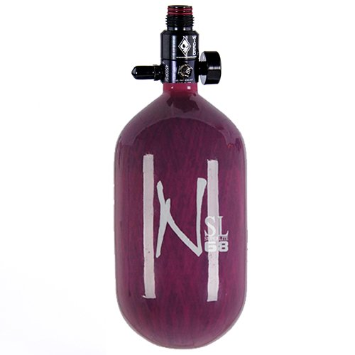 Ninja Carbon Fiber HPA Tank - SUPERLIGHT / SL - 68/4500 - Purple by Ninja Paintball