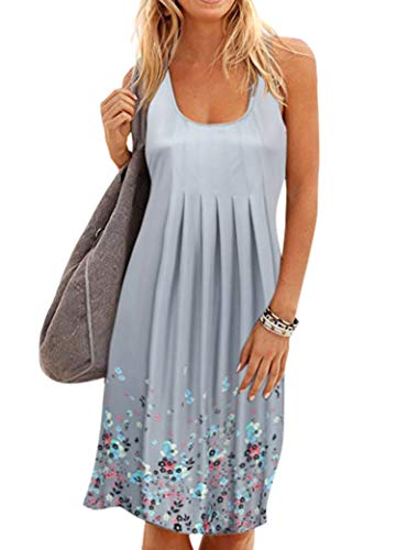 Women Midi Summer Sundress Casual Sleeveless Beach Dress