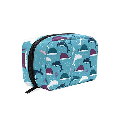 Miami Dolphin Costume Fun Cosmetic Bag Storage Bag Makeup Jewelry Shaving Tools Portable Cosmetic Pouch Travel Brush -