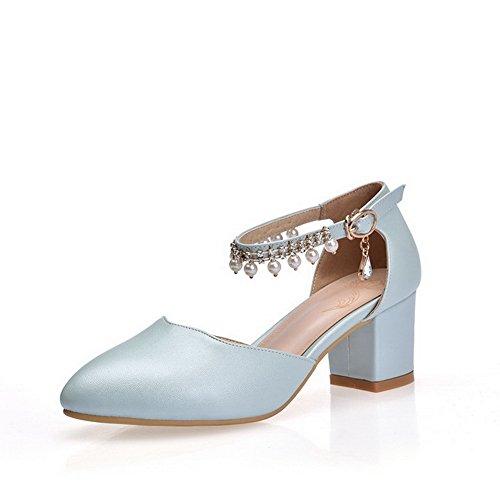 Compensées 1TO9 Femme Inconnu Bleu Sandales W7HnBdHZA