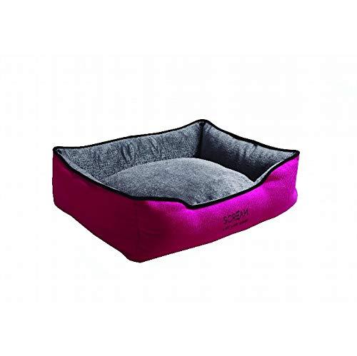 Loud Pink 61x50x20cm Loud Pink 61x50x20cm SCREAM Bolster Pet Bed 70x60x20cm, Loud Pink
