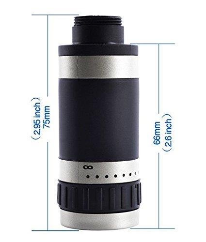 Meres Obiettivo Meres 8X teleobiettivo telescopio con Case Cover per iPhone nero (per iPhone 5 5S SE )