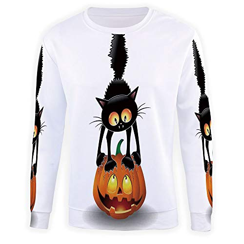 MOOCOM Men's Halloween Decorations Crewneck Sweatshirt]()