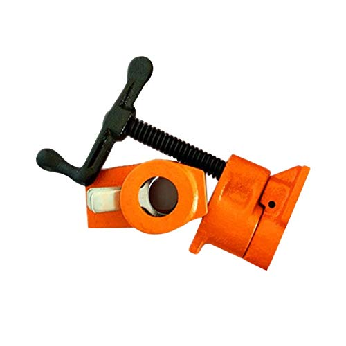 Labu Store Cast Iron Wood Gluing Pipe Clamp Quick Release 1/2 3/4Inch Clip Set Woodworking Tool