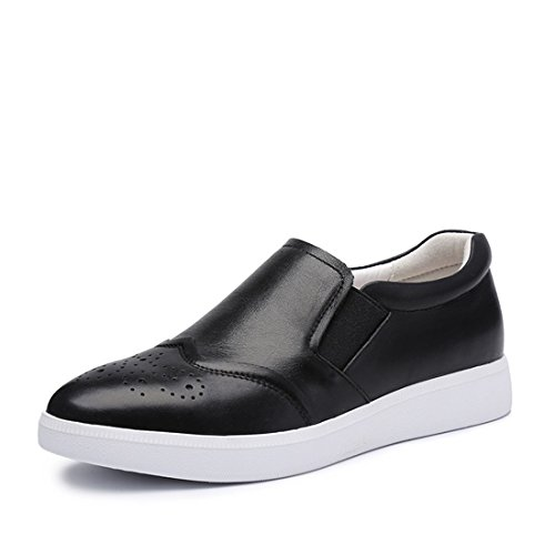 Womens Classic 1H Slip Loafers Shoes Black On Driving Moccasins Casual Soft C60 q4SqZpB