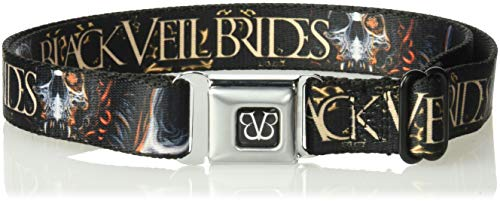 Buckle-Down Men's Seatbelt Belt Kids, Veil Brides Melting Skull Black/Grays/Orange/tan, 1.0'' Wide-20-36 Inches by Buckle Down (Image #1)