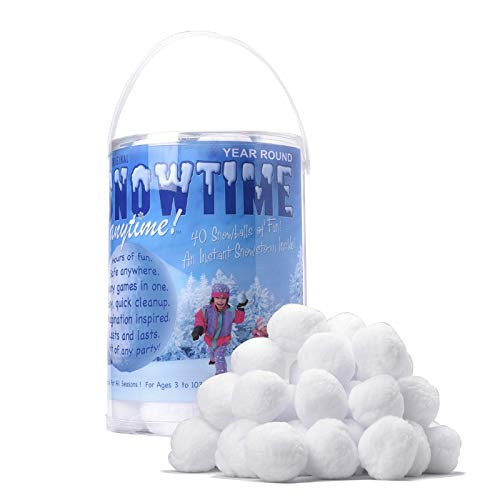 SNOWTIME ANYTIME Indoor Snowball Fight (20 Pack)]()