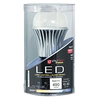 Utilitech 7.5-Watt (40W) A19 Medium Base Daylight (5000K) LED Bulb