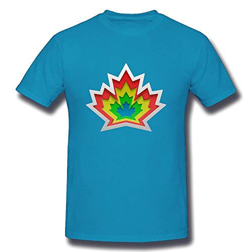 CENJOAN Canada Maple Leaf Logo Short Sleeve T-Shirt Cotton Tee Mens (President Watch Mens Series)