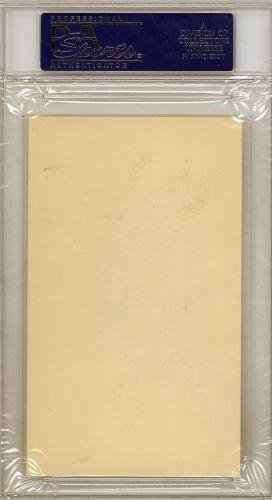 "Mickey Mantle Autographed 3x5 Index Card Yankees""Best Wishes"" 126325 PSA/DNA Certified MLB Cut Signatures"