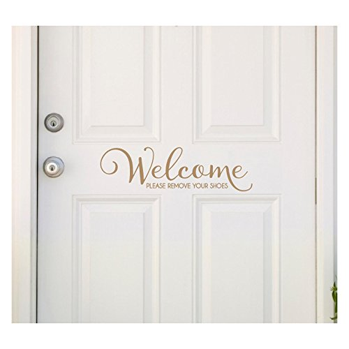 (Welcome..Please Remove Your Shoes Vinyl Wall Decal (Caramel))
