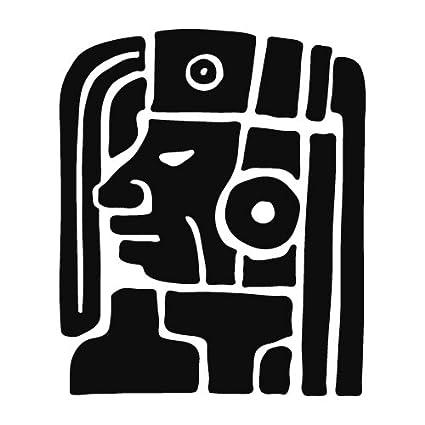 Amazon Mayan Symbol Head Ancient Religious 5x6 Black Home