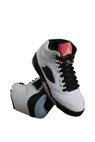 156c99dcae86a6 Galleon - 440892-115 GRADE SCHOOL AIR 5 RETRO GG JORDAN WHITE SUNBLUSH BLACK