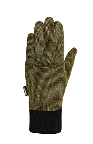 Seirus Innovation Thermalux Heat Pocket Glove Liner,Black/Gold, (Lurex Liner)