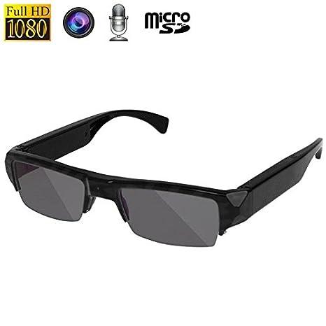 Gafas de sol cámara espía micrófono Full HD 1080p 5 MP CMOS: Amazon.es: Electrónica