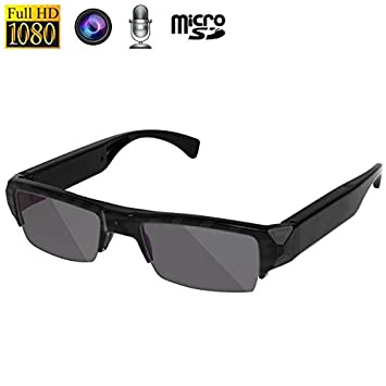 a4b051fac1 Gafas de sol cámara espía micrófono Full HD 1080p 5 MP CMOS: Amazon.es:  Electrónica