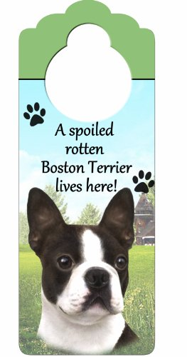 Boston Terrier Wood Sign