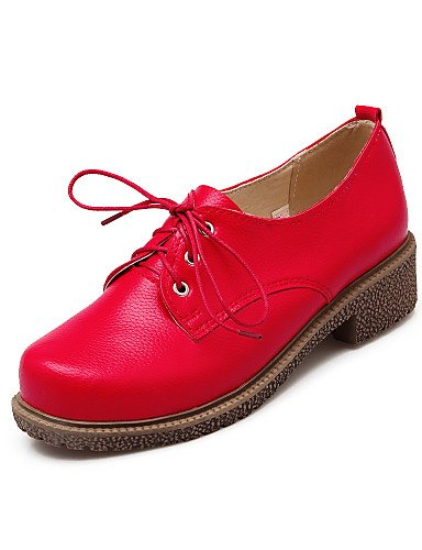 cn43 5 Robusto Tacón Casual eu42 Cerrada Zapatos Tira uk8 us10 y uk8 ZQ el Oficina en eu42 5 Semicuero de Punta Exterior red Trabajo 5 uk6 5 Oxfords cn40 us10 5 5 Tobillo eu39 mujer red black us8 xIqSwtap