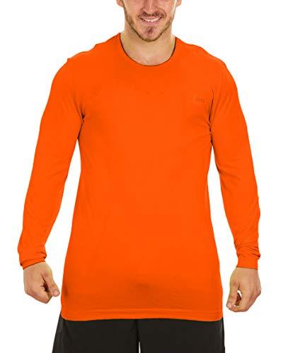 ASICS Men's Seamless Long Sleeve Top MR0657CW (X-Large, Orange)