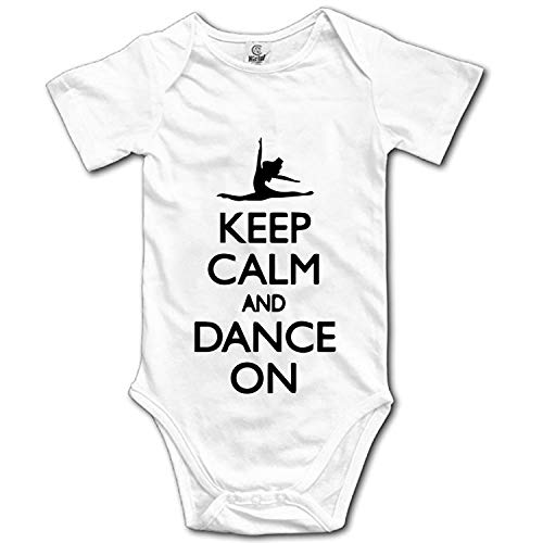 Keep Calm and Dance On Printed Personalized Infant Bodysuit One-Piece