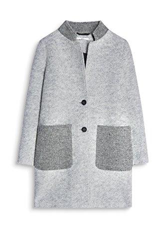 edc by Esprit 097cc1g027, Abrigo para Mujer Gris (Light Grey 040)