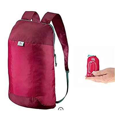 80%OFF Quechua Backpack red rasperry 10 Liters Ultra-Compact for people looking for an extra backpack ultra light (1.7oz)