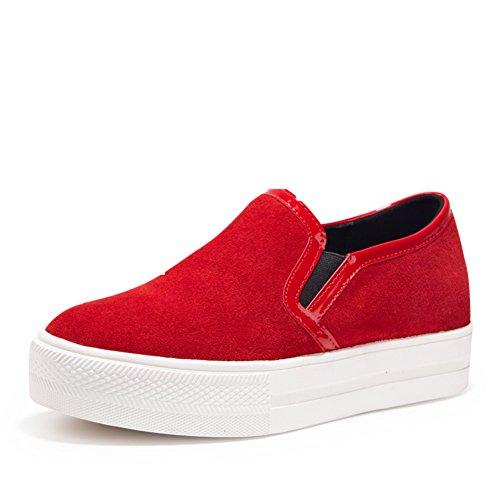 caída de coreanos zapatos flat-bottom/Grueso negro Lok Fu mayor zapatos del ocio/Zapatos de moda B