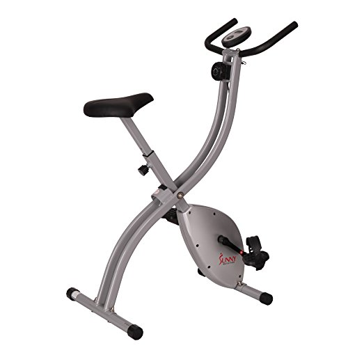Sunny Health & Fitness SF-B2605 Upright Exercise Bike, Compact Foldable Home Indoor Bike (Magnetic Elliptical Sunny)