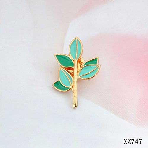 Plant Pin (JIEPING Green Leaves Cactus Plant Badge Corsage T-shirt Pins)