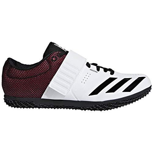 adidas Adizero Hj White/Black/Red Track Shoes 8.5