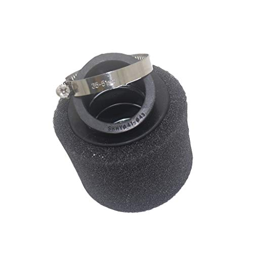 Motorcycle 42MM oblique air filter 41-43MM caliber air filter oblique sponge air filter (Color : Black):