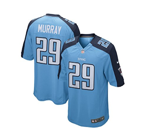 Nike Men's Tennessee Titans Demarco Murray #29 Home Game On Field Football Jersey 468970-481 Light Blue/Navy (Small)