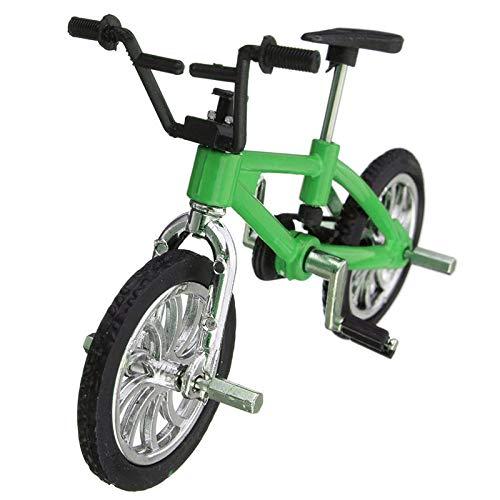 [해외]Cool Finger Alloy Bicycle Set Children Kid Model Rare Small Mini Toy - Green / Cool Finger Alloy Bicycle Set Children Kid Model Rare Small Mini Toy - Green