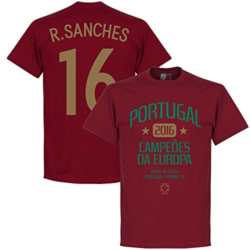 Portogallo campionati europei 2016Sanches t-shirt–Deep Red